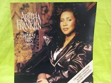 "Aretha Franklin Greatest Hits 12"" X 12"" RECORD STORE PROMO POSTER"