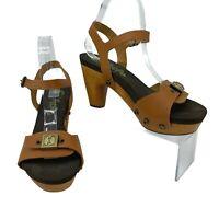 Flogg Fantastic Heels Women's Size 7.5 M Leather Sling Back Open Toe Platform