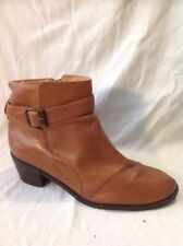 Top Shop Brown Ankle Leather Boots Size 7