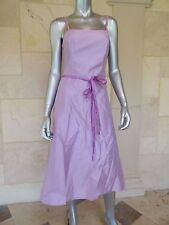 Watters & Watters Purple Silk Straps Cocktail Bridesmade Prom Dress Sz 10