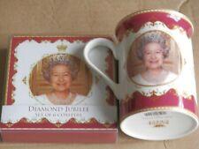 Queen Elizabeth Diamond Jubilee Mug And Coasters.
