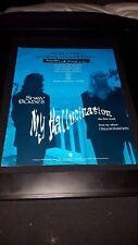 Tommy Shaw Jack Blades My Hallucination Rare  Radio Promo Poster Ad Framed!