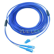 120M Armored Cable Fiber Patch Cord LC to SC SM 9/125 Duplex Pigtail DHL Free