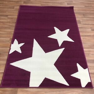Quality star purple kids bedroom lounge Rug 120cm x 170cm  (632)