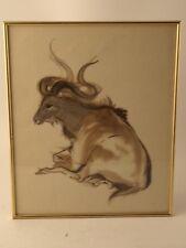 Offset moufflon brun signe encadre par J.Claude Quilici