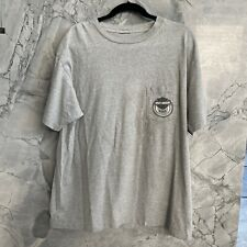 Harley-Davidson Mens Grey Pocket T-Shirt Flames Modesto CA California