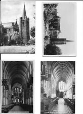 Set of 4 unused postcards of St. Patrick's Cathedral, Dublin, 1950's