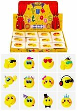12x Mini Smiley Face Temporary Tattoos Boys Girls Party Bag & Stocking Fillers