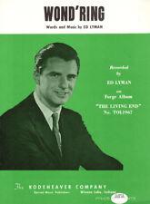 WOND'RING Music Sheet-1967-ED LYMAN-CHRISTMAS Lyrics-GOSPEL/RELIGIOUS/CHRISTIAN