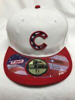 Chicago Cubs New Era MLB 59FIFTY Size 7 7/8 USA Independence Day Cap Hat