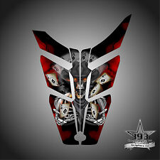 2010 - 2015 POLARIS PRO RMK - RUSH Decal Hood Wrap Graphics Outlaw Red