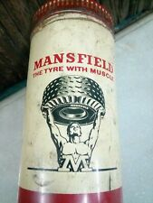 OLD Vintage MANSFIELD MRF Tyres Ad Litho Print Tin Sign BOX  Collectible Rare