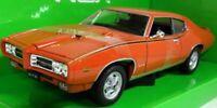 Pontiac, GTO, Judge, 1969 - Orange, Classic, Model Car, 1/24 ,