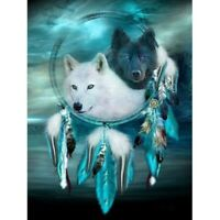 Wolf Dreamcatcher Full Drill DIY 5D Diamond Painting Embroidery Cross Stitch Kit
