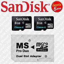 Sandisk microSDHC High Capacity Sdqm Class 4 Micro SD Memory Card 8gb DF