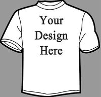 10 Custom Printed T-Shirts (White) - Free Shipping