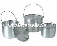 BILLY CAN CAMPING FAMILY COOKSET POTS PAN SET are nesting cookware saucepans
