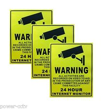 Video Surveillance Sticker Warning Decal Sign Security Camera IP/0nb System 5MP