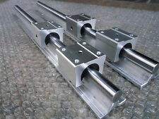 2X SBR16-1000mm 16MM SUPPORTED LINEAR RAIL SHAFT+ 4 SBR16UU Rounter Bearing