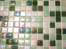 Glasmosaik Fliesen Mosaik PERLMUTTEFFEKT weiss grün Perlmutt Bad Pool   2,14 qm