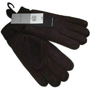 NEW MENS JACK REID REAL SUEDE LEATHER RIBBED CUFF GLOVES SIZE S M L CHRISTMAS