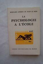 LA PSYCHOLOGIE A L'ECOLE