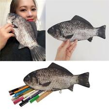 Silver Carp Fish-like Zip Pen & Make-up Pouch Pencil Case Funny Rare Gift Dres