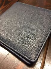 Herschel Supply Co Hank Large Leather Premium Wallet Navy NEW