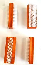 1 X DOUBLE SIDED WOOD NAIL CLEANING CLEAN RETRO BRUSH SCRUBBER MANICURE UK