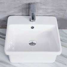 Counter top Square Basin Modern Elegant Deep Bowl Heavy Duty Sink with Over Flow