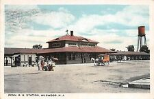 A86/ Wildwood New Jersey NJ Postcard Penn Railroad Depot Station c1920