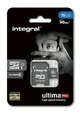 Integral 16GB Micro SDHC Card 16GB Memory Card With SD Adapter Up to 90 MB/s
