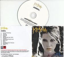 KESHA Animal UK 14-trk watermarked promo test CD Ke$ha