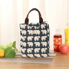 1PC Unisex Fashion Insulation Package Portable Waterproof Canvas Lunch Bag B YT8