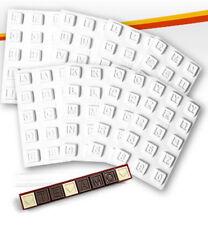 Moldes de letras, números y signos especiales para chocolate