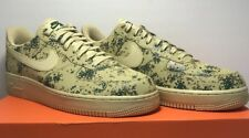 Nike Mens Size 9.5 Air Force 1 '07 LV8 Gold Camo Basketball Shoes 823511-700