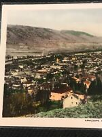 Postcard Kamloops B.C. View On The Town Early Hand Tinted P10