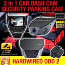 Dash Camera In Car Vehicle Security Blackbox ODB-II Parking Mode Hardwired Kit