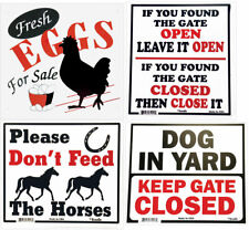 Gate Signs outdoor  polystyrene