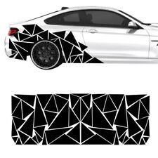 200 x 60cm Car Truck Body Stickers Decals Glossy Black Triangles Look Waterproof