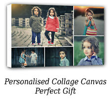 Personalised Canvas Collage Prints Photo Image 20x16 inch