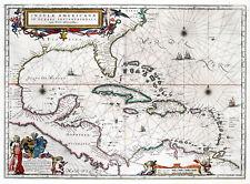 Reproduction carte ancienne - Les Antilles en 1665 (Caribbean Islands)