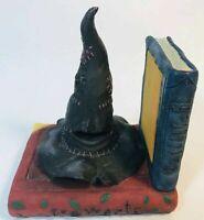 Sorting Hat Hogwarts Harry Potter Bookend Warner Bros 2000 - ONE book end
