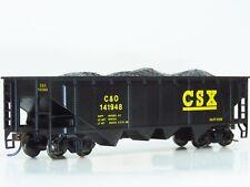 HO Bachmann Silver CSX Quad Hopper C&O 141948 W/Coal Load Knucks Metal Wheels