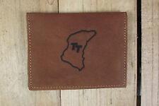 Tt circuito marrón de cuero cartera tamaño tarjeta de crédito, licencia / Id titular it126