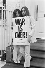 John Lennon & Yoko Ono Iconic War Is Over Amazing 8.5x11 Photo