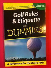 Golf Rules & Etiquette For Dummies By John Steinbreder - Golfing For Dummies