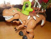 "Fisher Price Dino Fortress Imaginext T-Rex Dinosaur 2014 Mattel 13"" Makes Noise"