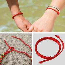 Porte-bonheur Chinoise Corde Rouge Fil Bracelet Femme Bonheur Bonne Chance Neuf