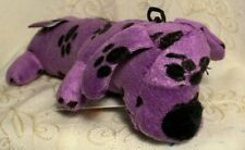 """Multipet PURPLE SMILING LOOFA Exercise Fetch Chew Crinkle Squeaky Dog Toy 6"""""""